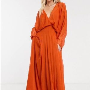ASOS Draped Open-Back Maxi Dress